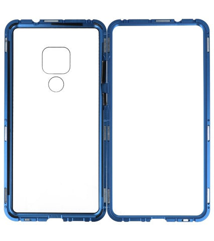 Huawei Mate 20 Blauw - Transparant | Magnetic Back Cover  | WN™ - hoesjeshoek