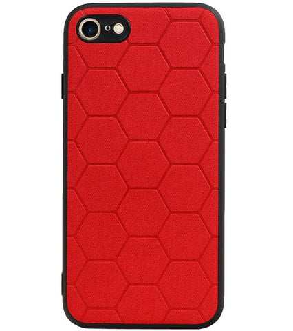 iPhone 8 / iPhone 7/8 Rood | Hexagon Hard Case  | WN™ - hoesjeshoek
