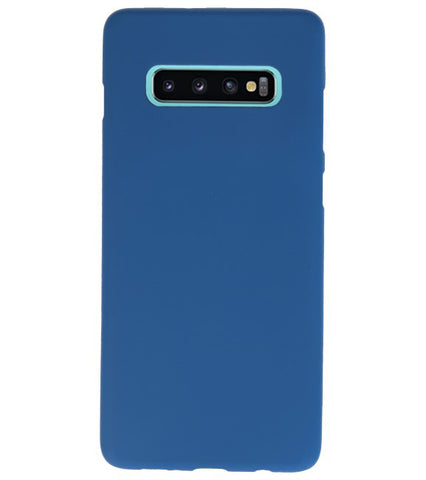 Samsung Samsung Galaxy S10 Plus Navy | Backcover Siliconen  Hoesje  | WN™ - hoesjeshoek