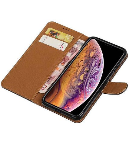 iPhone XS Max Zwart | Premium bookstyle / book case/ wallet case  | WN™ - hoesjeshoek