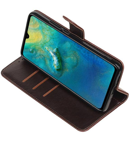 Huawei Mate 20 Mocca | Premium bookstyle / book case/ wallet case  | WN™ - hoesjeshoek