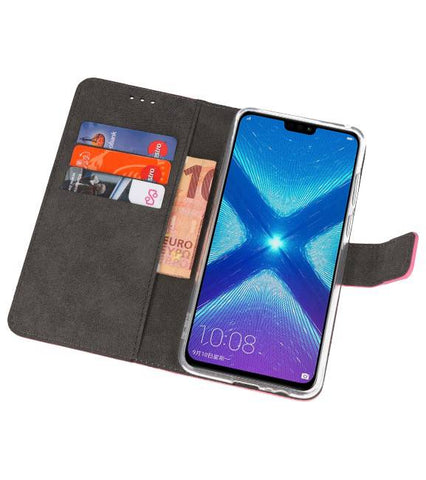 Huawei Honor 8X Roze | Wallet Case Hoesje  | WN™ - hoesjeshoek