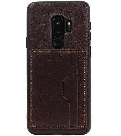 Samsung Galaxy S9 Plus Mocca | Staand Back Cover 2 Pasjes  | WN™ - hoesjeshoek