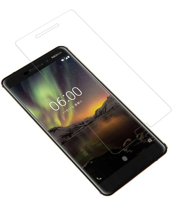 Nokia 6.1 2018 | Tempered glass/ beschermglas/ screenprotector  | WN™ - hoesjeshoek