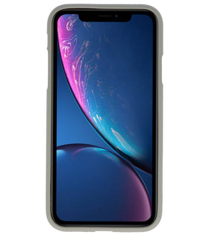iPhone XR Grijs | Backcover Siliconen  Hoesje  | WN™ - hoesjeshoek