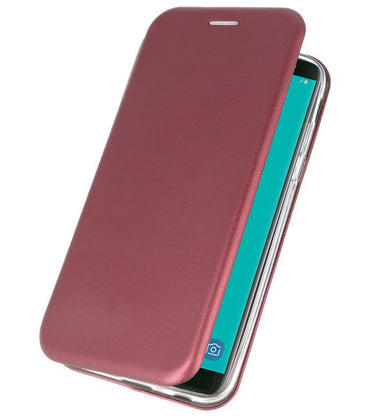 Samsung Samsung Galaxy J6 2018 Bordeaux Rood | Slim Folio Case  | WN™ - hoesjeshoek