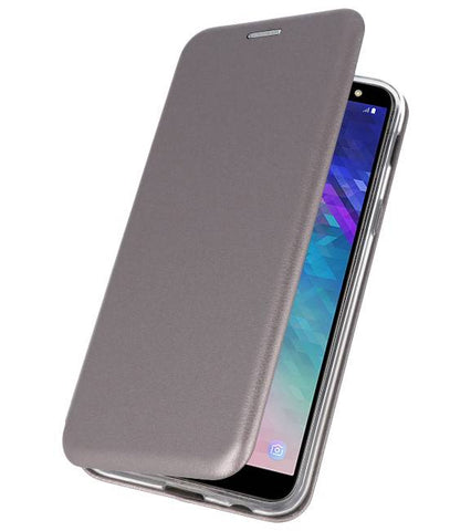 Samsung Galaxy A6 2018 Grijs | Slim Folio Case  | WN™ - hoesjeshoek