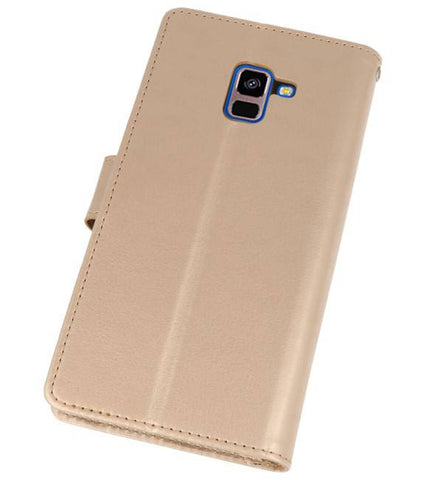 Samsung Galaxy A8 Plus (2018) Goud | Wallet Case Hoesje  | WN™ - hoesjeshoek