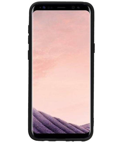 Samsung Galaxy S8 Plus Mocca | Staand Back Cover 1 Pasjes  | WN™ - hoesjeshoek