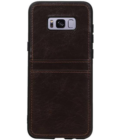 Samsung Galaxy S8 Plus Mocca | Back Cover 2 Pasjes  | WN™ - hoesjeshoek