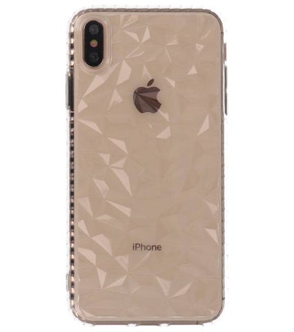 iPhone XS Max | Transparant Geometric Style Siliconen Hoesjes  | WN™ - hoesjeshoek