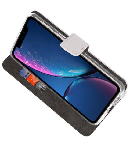 iPhone XR Wit | Wallet Case Hoesje  | WN™ - hoesjeshoek