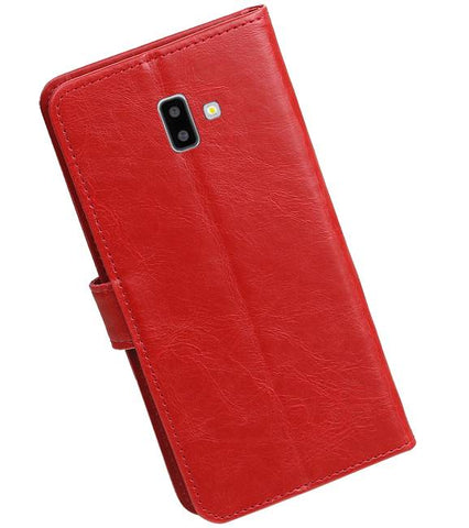Samsung Samsung Galaxy J6 Plus Rood | Premium bookstyle / book case/ wallet case  | WN™ - hoesjeshoek