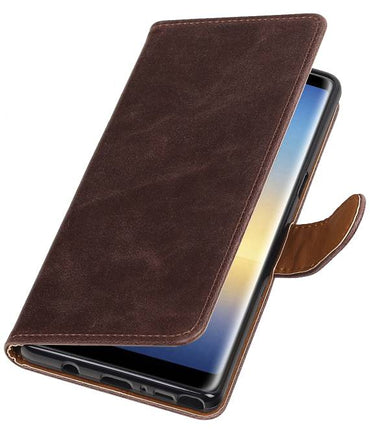 Samsung Galaxy Note 8 Mocca | Premium TPU PU Leder bookstyle / book case/ wallet case  | WN™ - hoesjeshoek
