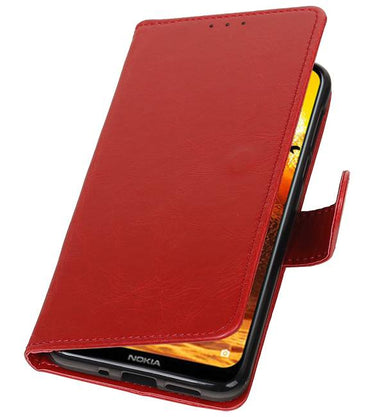 Nokia 8.1 Rood | Premium bookstyle / book case/ wallet case  | WN™ - hoesjeshoek