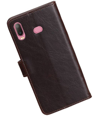 Samsung Samsung Galaxy A6s Mocca | Premium bookstyle / book case/ wallet case  | WN™ - hoesjeshoek
