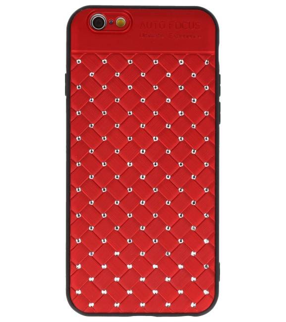 iPhone 6 Rood | Witte Chique Hard Cases  | WN™ - hoesjeshoek