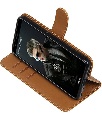 Huawei P Smart Bruin | Premium PU Leder bookstyle / book case/ wallet case  | WN™ - hoesjeshoek