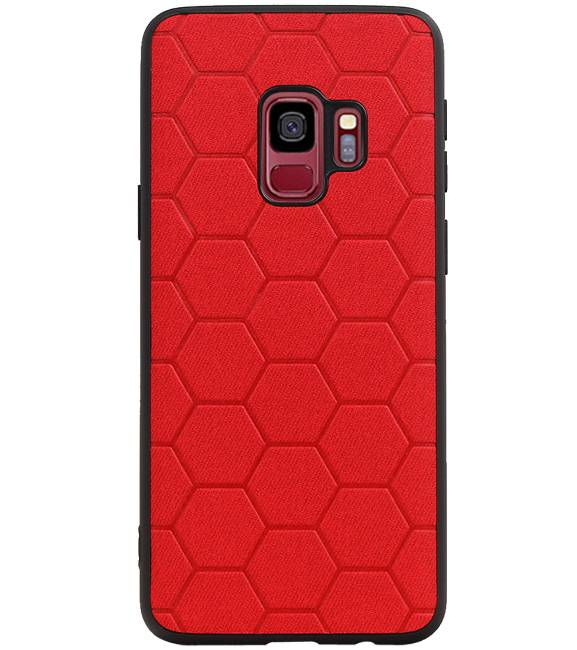 Samsung Samsung Galaxy S9 Rood | Hexagon Hard Case  | WN™ - hoesjeshoek