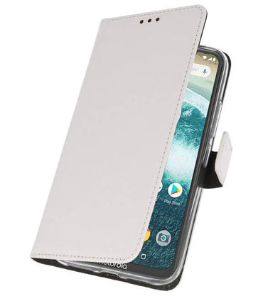 Motorola Moto One Wit | Wallet Case Hoesje  | WN™ - hoesjeshoek