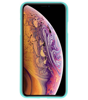 iPhone XS Max Turquoise | Backcover Siliconen  Hoesje  | WN™ - hoesjeshoek