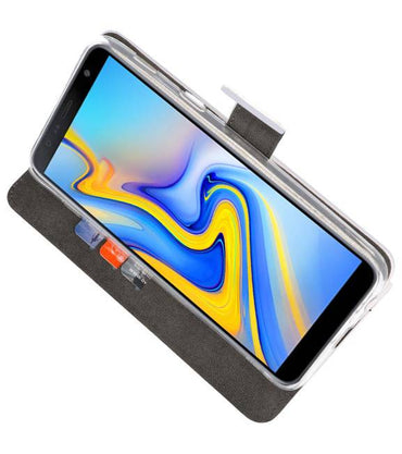 Samsung Galaxy J6 Plus Wit | Wallet Case Hoesje  | WN™ - hoesjeshoek