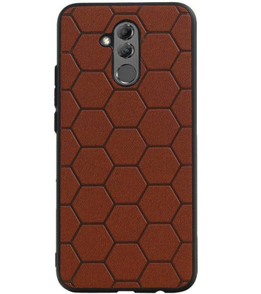 Huawei Mate 20 Lite Bruin | Hexagon Hard Case  | WN™ - hoesjeshoek
