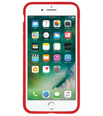 iPhone 7/8 / 8 Plus Rood | Focus Transparant Hard Cases  | WN™ - hoesjeshoek