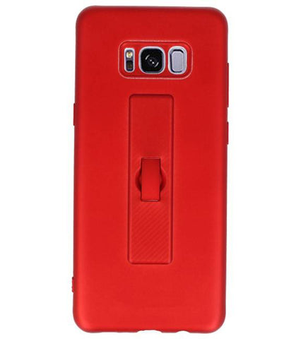 | Carbon series hoesje Samsung Samsung Galaxy S8 Plus Rood | WN™ - hoesjeshoek