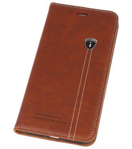 iPhone 7/8 / 8 Plus Bruin | IHOSEN Wallet Cases  | WN™ - hoesjeshoek