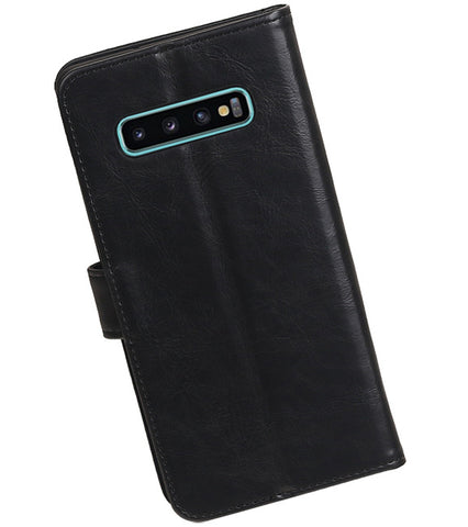 Samsung Samsung Galaxy S10 Plus Zwart | Premium bookstyle / book case/ wallet case  | WN™ - hoesjeshoek