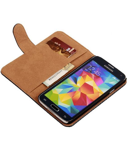 Samsung Galaxy Grand Neo i9060 Zwart | Snake bookstyle / book case/ wallet case Hoes  | WN™ - hoesjeshoek