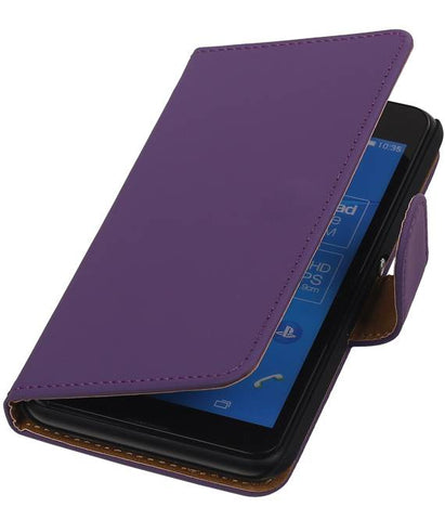 sony Xperia E4g Paars | bookstyle / book case/ wallet case Hoes  | WN™ - hoesjeshoek
