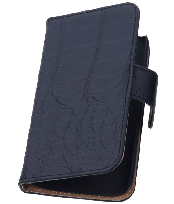 Huawei Huawei Ascend G510 Zwart | Croco bookstyle / book case/ wallet case Hoes  | WN™ - hoesjeshoek
