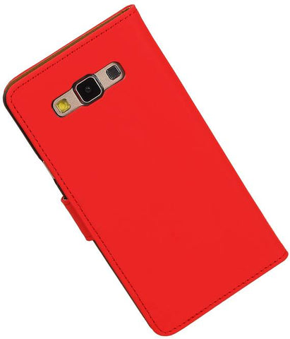 Samsung galaxy a7 2015 Rood | bookstyle / book case/ wallet case Hoes  | WN™ - hoesjeshoek