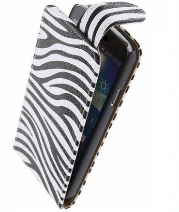 Alcatel One Touch M'pop OT-5020 Wit | Zebra Classic Hoes  | WN™ - hoesjeshoek