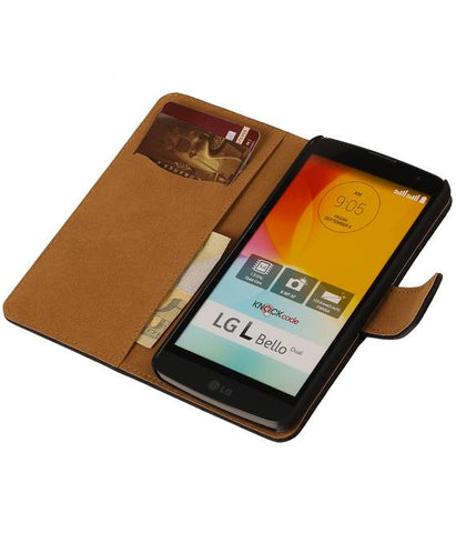 LG Bello D335 Zwart | Bark bookstyle / book case/ wallet case Hoes  | WN™ - hoesjeshoek