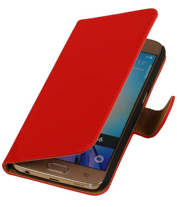 Samsung Galaxy J3 J300F Rood | bookstyle / book case/ wallet case Hoes  | WN™ - hoesjeshoek
