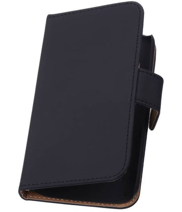 Alcatel One Touch M'pop OT-5020 Zwart | bookstyle / book case/ wallet case Hoes  | WN™ - hoesjeshoek