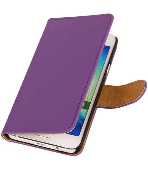 Samsung galaxy a5 2015 Paars | bookstyle / book case/ wallet case Hoes  | WN™ - hoesjeshoek