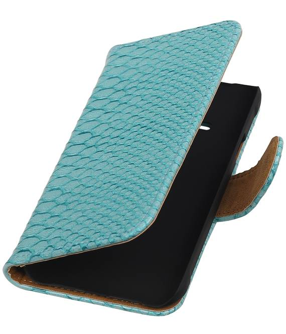 Samsung galaxy j1 2015 Ace Turquoise | Snake bookstyle / book case/ wallet case Hoes  | WN™ - hoesjeshoek
