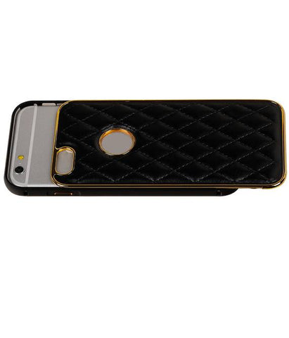 | Aluminium + Back cover for iPhone 6 Zwart | WN™ - hoesjeshoek