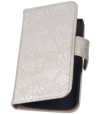 sony Xperia Z3 Compact Goud | Lace bookstyle / book case/ wallet case Hoes  | WN™ - hoesjeshoek