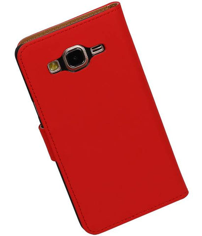 Samsung Galaxy On 5 Rood | bookstyle / book case/ wallet case Hoes  | WN™ - hoesjeshoek