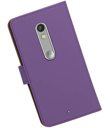 Motorola Moto X Play Paars | bookstyle / book case/ wallet case Hoes  | WN™ - hoesjeshoek