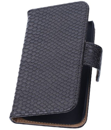 Acer Liquid Z5 Zwart | Snake bookstyle / book case/ wallet case Hoes  | WN™ - hoesjeshoek