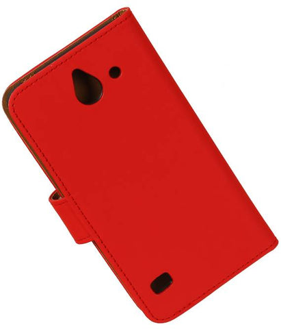 Huawei Huawei Ascend Y550 Rood | bookstyle / book case/ wallet case Hoes  | WN™ - hoesjeshoek