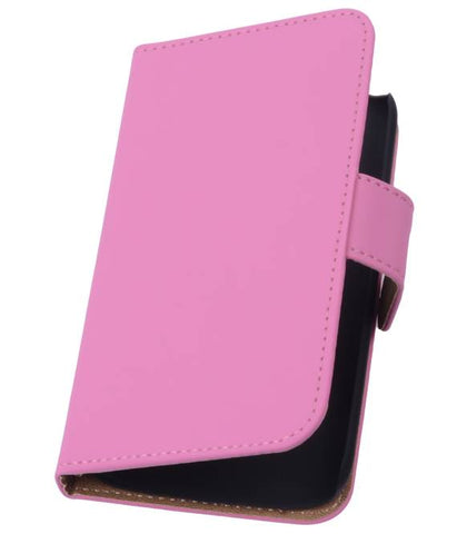 Huawei Huawei Ascend P7 Roze | bookstyle / book case/ wallet case Hoes  | WN™ - hoesjeshoek