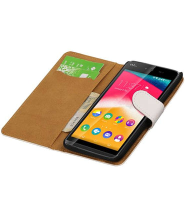 Wiko Raibowjam Wit | bookstyle / book case/ wallet case Hoes  | WN™ - hoesjeshoek