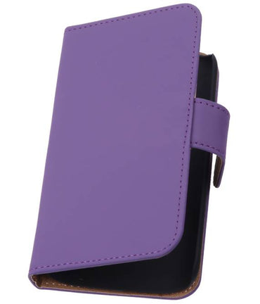 Alcatel One Touch M'pop OT-5020 Paars | bookstyle / book case/ wallet case Hoes  | WN™ - hoesjeshoek